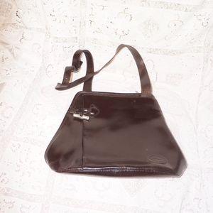 Vintage brown Longchamp shoulder bag used cold